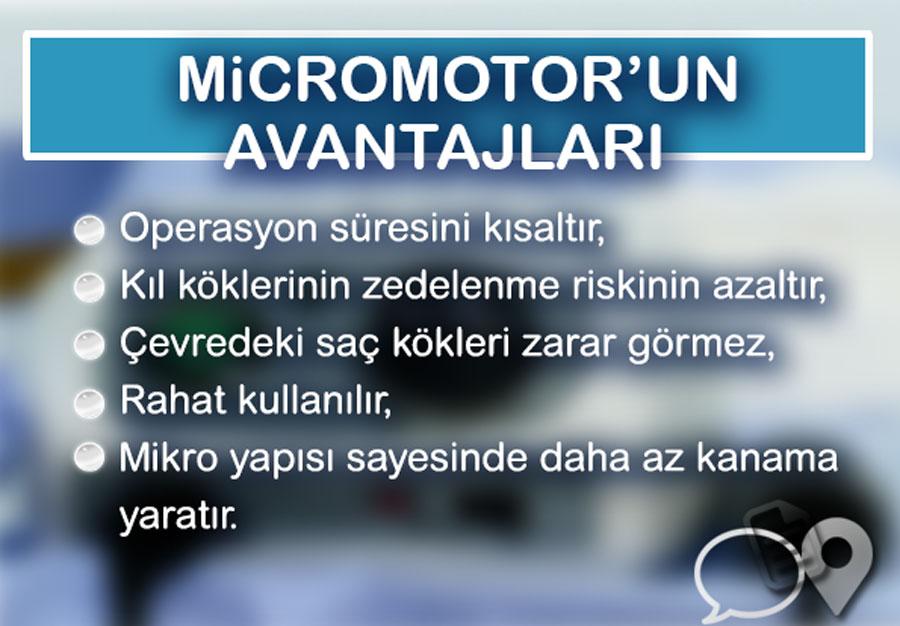 Mikromotor FUE'nin Avantajları